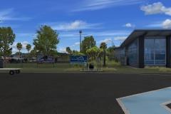 Terminal und Parkplatz