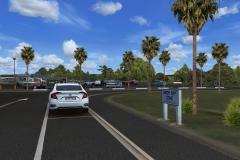 Parkplatz vor dem Terminal